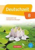 Deutschzeit, Allgemeine Ausgabe: 8. Schuljahr, Arbeitsheft mit interaktiven Übungen