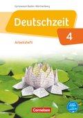 Deutschzeit, Gymnasium Baden-Württemberg: 8. Schuljahr, Arbeitsheft mit Lösungen; Bd.4