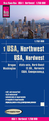 Reise Know-How Landkarte USA 01, Nordwest (1:750.000) : Washington und Oregon