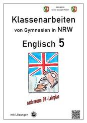 Englisch 5 - Klassenarbeiten von Gymnasien in NRW - mit Lösungen