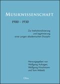 Musikwissenschaft 1900-1930