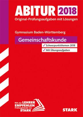 Abitur 2018 - Baden-Württemberg - Gemeinschaftskunde