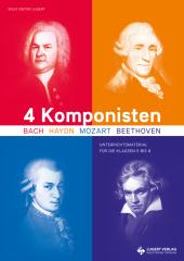 4 Komponisten, Heft m. 2 Audio-CDs
