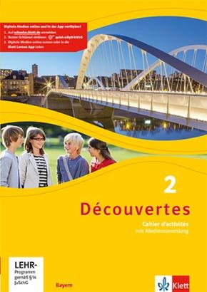 Découvertes. Ausgabe für Bayern ab 2017: 7. Klasse, Cahier d'activités mit mp3-CD und Video-DVD; 2