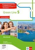 Green Line, Bundesausgabe ab 2014: 9. Klasse, Workbook mit Audio-CD und Übungssoftware; Bd.5