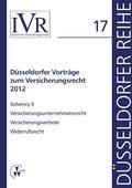 Düsseldorfer Vorträge zum Versicherungsrecht 2012