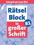 Rätselblock in großer Schrift - Bd.81