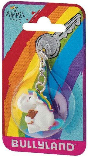 Pummeleinhorn mit Teddy - Schlüsselanhänger