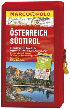 MARCO POLO Kartenset Österreich, Südtirol 1:200 000, 3 Doppelblätter