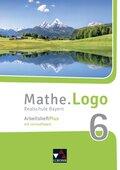 Mathe.Logo, Realschule Bayern (2017): 6. Jahrgangsstufe, Arbeitsheft Plus, m. CD-ROM