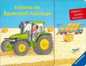 Entdecke die Bauernhof-Fahrzeuge - klappen, spielen, staunen