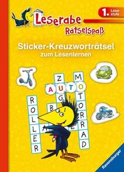 Leserabe, Rätselspaß - Sticker-Kreuzworträtsel zum Lesenlernen (1. Lesestufe)