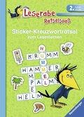 Leserabe, Rätselspaß - Sticker-Kreuzworträtsel zum Lesenlernen (2. Lesestufe), grün