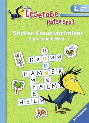 Sticker-Kreuzworträtsel zum Lesenlernen (2. Lesestufe), grün