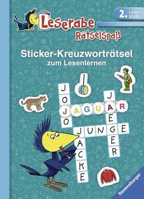 Sticker-Kreuzworträtsel zum Lesenlernen (2. Lesestufe), türkis