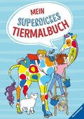 Mein superdickes Tiermalbuch