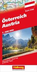 Hallwag Straßenkarte Österreich / Austria