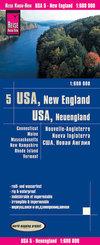 Reise Know-How Landkarte USA, Neuengland / USA, New England