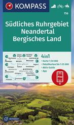 KOMPASS Wanderkarte Südliches Ruhrgebiet, Neandertal, Bergisches Land
