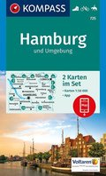 Kompass Karte Hamburg und Umgebung, 2 Bl.