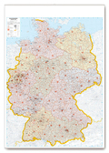 Postleitkarte Deutschland 1:700.000, Planokarte