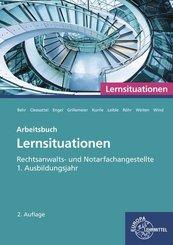 Rechtsanwalts- und Notarfachangestellte, Lernsituationen 1. Ausbildungsjahr