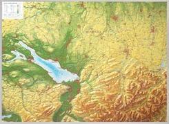 Relief Allgäu Bodensee 1:200.000, Reliefkarte, mit Aluminiumrahmen