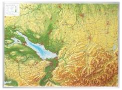 Relief Allgäu Bodensee 1:200.000, Reliefkarte