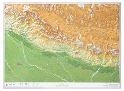 Nepal 1:1.150.000, Groß, Reliefkarte