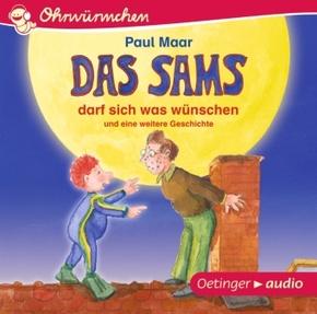 Das Sams darf sich was wünschen und eine weitere Geschichte, 1 Audio-CD