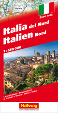 Hallwag Straßenkarte Italien Nord / Italia del Nord