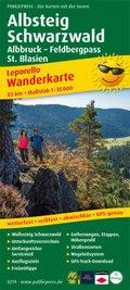 PublicPress Leporello Wanderkarte Albsteig, Schwarzwald, Albbruck - Feldbergpass - St. Blasien