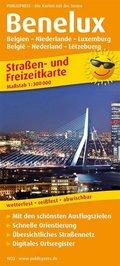 PUBLICPRESS Straßen- und Freizeitkarte Benelux - Belgien / Niederlande / Luxemburg