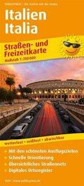 PUBLICPRESS Straßen- und Freizeitkarte Italien
