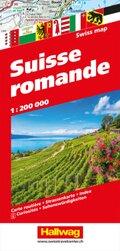 Hallwag Straßenkarte Suisse Romande 1:200 000