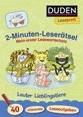 2-Minuten-Leserätsel: Mein erster Lesewortschatz. Lauter Lieblingstiere