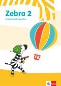Zebra, Ausgabe ab 2018: 2. Schuljahr, Arbeitsheft Sprache