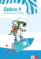 Zebra. Ausgabe ab 2018: 1. Schuljahr, Arbeitsheft Lesen/Schreiben