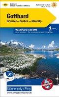 Kümmerly & Frey Karte Gotthard; San Gottardo