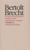 Werke, Große kommentierte Berliner und Frankfurter Ausgabe: Schriften; .23 - Tl.3