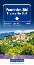 Kümmerly+Frey Karte Frankreich Süd Strassenkarte; France du Sud; Southern France / Francia del Sud