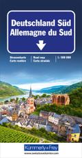 Kümmerly+Frey Karte Deutschland Süd Straßenkarte; Allemagne du Sud; Germany South; Germania del Sud