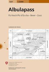 Landeskarte der Schweiz Albulapass