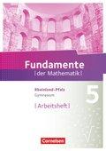 Fundamente der Mathematik, Gymnasium Rheinland-Pfalz: 5. Schuljahr, Arbeitsheft mit Lösungen