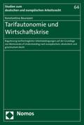 Tarifautonomie und Wirtschaftskrise