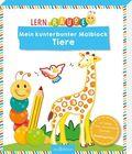 Lernraupe - Mein kunterbunter Malblock Tiere