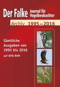 Der Falke, Journal für Vogelbeobachter, Archiv 1995-2016, 1 DVD-ROM