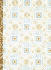 Gefährlich schön Notizbuch groß - Motiv Hellblaues Ornament
