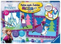 Malen nach Zahlen Junior - Jeder kann malen (Mal-Sets), Bildgröße: 22 x 32 cm: Die Eiskönigin