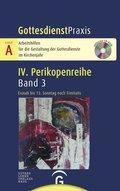 GottesdienstPraxis, Serie A, 4. Perikopenreihe: Exaudi bis 13. Sonntag nach Trinitatis, m. CD-ROM; Bd.3